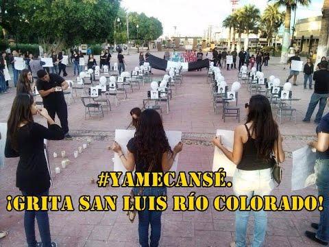 San Luis Río Colorado sigue con las protestas. #YaMeCansé. ¡Únete, se invita a nuevos eventos!