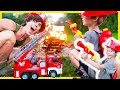 Fire Trucks for Children | Fireman Axel Puts Out Real FIRE!!