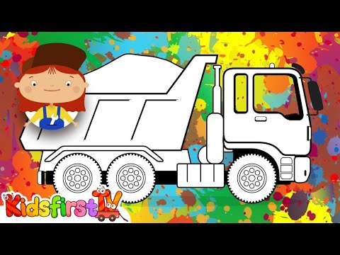 Doc McWheelie's Magic Brush: Paint A DUMP TRUCK! (Children's Car Cartoons)