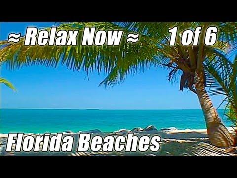KEY WEST / FLORIDA BEACHES #1 Relaxing Ocean Sounds Sleep Beach video Wave sound sunset relax