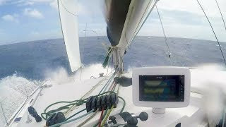 The First Time We've Turned Back. 35+ Knots Wind on the nose! Ep.158