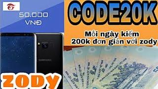 kiếm 200k / 1 ngày bằng ứng dụng zody |kiếm tiền online 2018