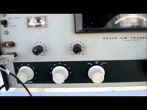 Demonstration of the Heathkit HW-16 CW Transmitter