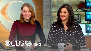 "Emma Stone and Rachel Weisz call ""The Favourite"" a ""high-stakes 'Mean Girls'"""