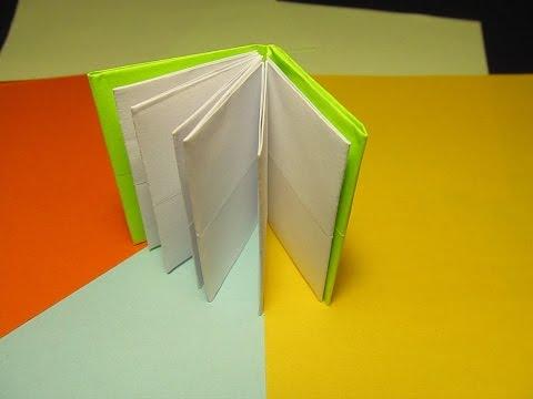 Поделки из бумаги блокнот без клея 2