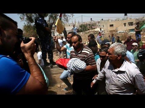 Protest in Gaza against toddler's death in 'settler' attack