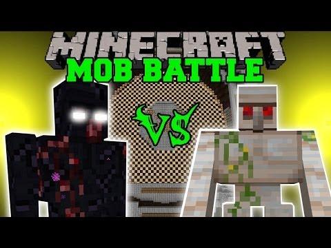 MUTANT OBSIDIAN GOLEM VS MUTANT IRON GOLEM Minecraft Mob Battles Mods