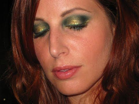 Makeup Tutorial Trucco Golden Green