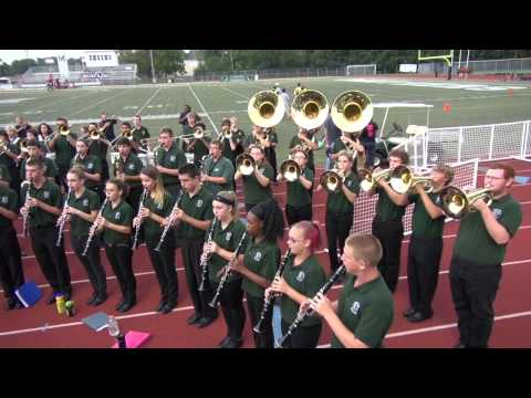 Mehlville High School Marching Band Aug 29 2014  Nation Anthem