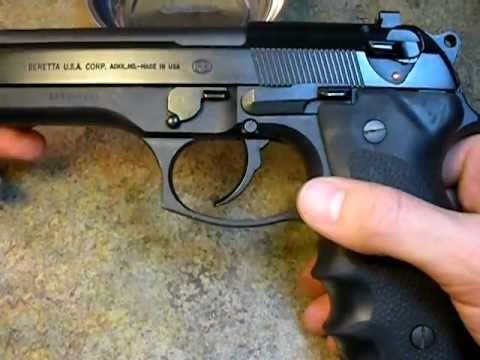 Beretta Pistol Disassembly
