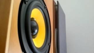 Hi-Fi 2-Way Bookshelf Kevlar Cone Speakers - Bass I Love You