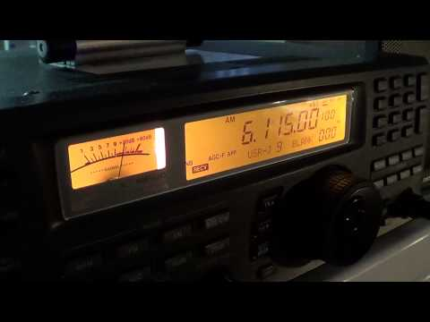 Icom IC R8500 Radio Taiwan International 6115 khz 2220 UT
