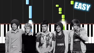 One Direction - History - EASY Piano Tutorial by PlutaX