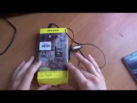 Awei A920BL  блютуз наушники с aliexpress.Обзор.Инструкция