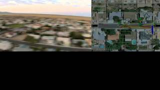 Quad Copter and APM2.6 GPS Mission Planner Flight video