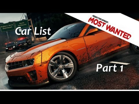 hqdefault jpgNeed For Speed Most Wanted Car List 2012