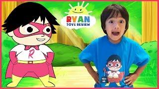 SUPERHERO KID RYAN TOYSREVIEW CARTOON! Ryan Saves Gus! Animation video for Children