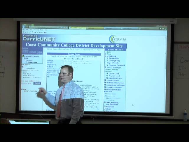 Golden West College CurricuNET Training 9-6-12