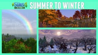 Summer to Winter Transitions And Changes- The Sims 4 Seasons - In Game Video