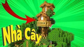 Cách Xây Nhà Cây Trên Núi ( Minecraft )
