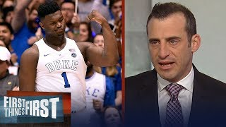 Doug Gottlieb's expectations for Zion in his first game against rival UNC | CBB | FIRST THINGS FIRST