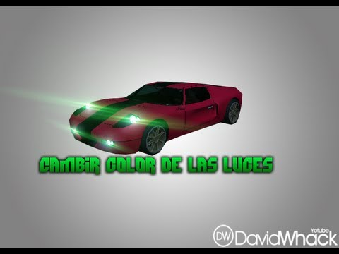 Como Cambiar el color de las luces de los carros •Gta sa•