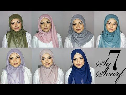 7 Square Scarf Hijab Tutorials
