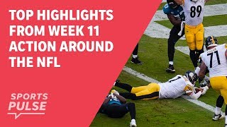 Top highlights from Week 11 action around the NFL