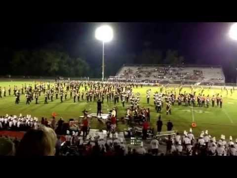 05Sep2014 Bloomingdale High School Rajun Bull Band and Crimson Color Guard, Valrico, FL