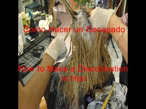 Que es el Decapado en Colorimetria How to Make a Discoloration in Hair