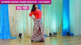 Actress Sherab Lhamo beautiful live dance performance in New York, 2017