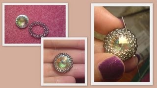 Basic Beaded rivoli Beading Tutorial by HoneyBeads1 (Photo tutorial)