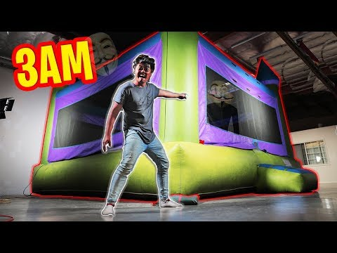3AM Trapped in a $100,000 BOUNCY HOUSE!