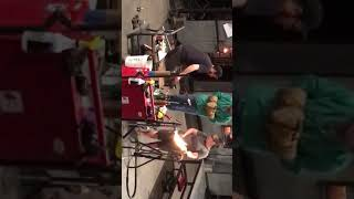 Glass Blowing at Tacoma Museum of Glass.