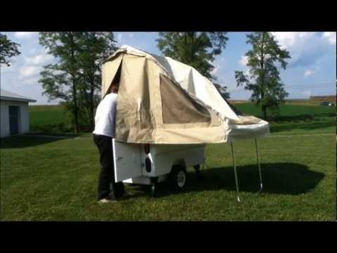 Instructional Setup for the Kompact Kamp Mini Mate Motorcycle Camper