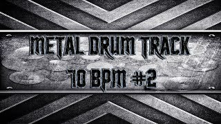 Easy Metal Drum Track 70 BPM (HQ,HD)
