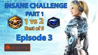 StarCraft 2: Grandmaster 1 vs 2 Diamond Players (Bo5) PART 1 - INSANE Challenge - Episode 3