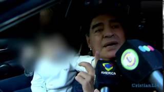 Maradona le pego un cachetazo a periodista
