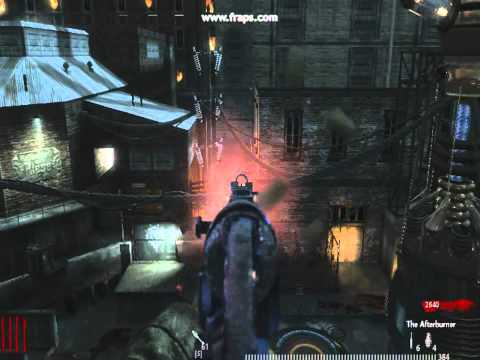 COD WAW der riese gameplay with in game cheats.