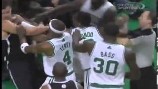 Celtics vs Nets Giant Fight FULL TODAY!! Celtics Fight/Brawl Rondo Ejected