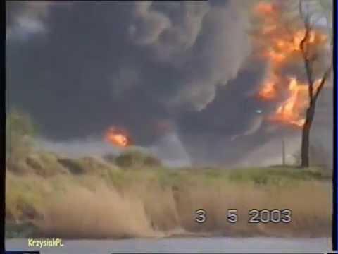 Pożar Rafinerii Gdańskiej   Fire In Gdansk Rafinery