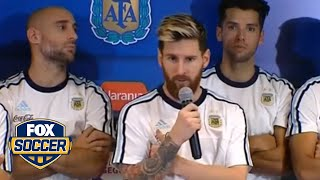 Messi leads press boycott after Argentina win