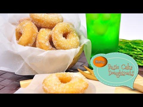 โดนัทเค้ก Basic Cake Doughnuts - 1 Minute Cooking
