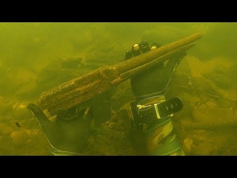 Found a Rifle Underwater in the River While Scuba Diving! (Unbelievable Find)