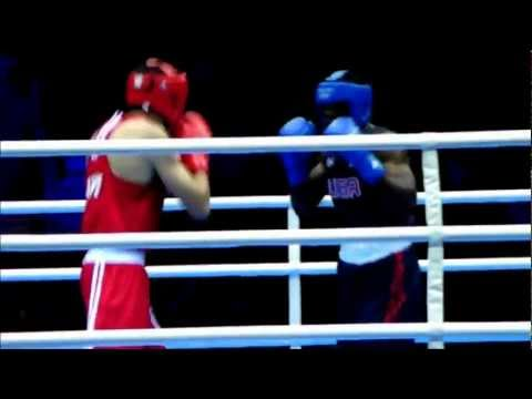 USA Olympic Boxer Terrell Gausha Knockout victory at the 2012 London Olympics