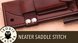 Quick Tip: Neatening up Your Saddle Stitch