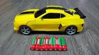 Xe ô tô điều khiển từ xa BIẾN HÌNH siêu đẹp - Yellow Bumblebee Transformer Toys - Car Toys Kid