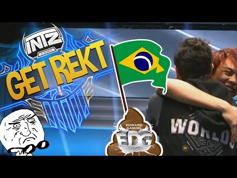 FUNNY/FAIL MOMENTS  WORLDS - DAY 1 | BRAZIL BEAT CHINA!? | League of Legends 2016