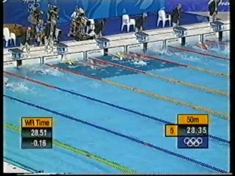 In an upset result, American Misty Hyman swims over Susie ONeill and Petria Thomas to take the Gold medal in the 200m Butterfly at the 2000 Sydney Olympics |...