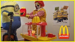 Ronald McDonald's Drive Through Fun | Kids Fun Pretend Play Toy Kitchen Set | Jai Bista Show